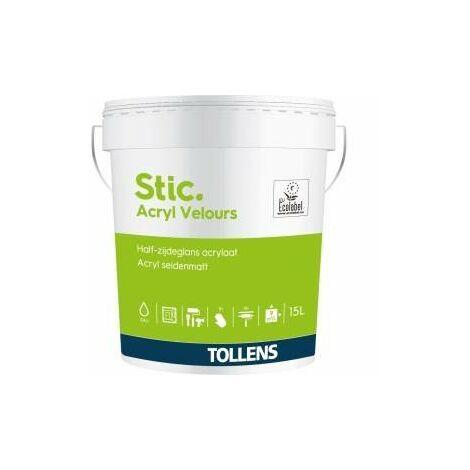 Peinture Stic acrylique velours 15L - Tollens