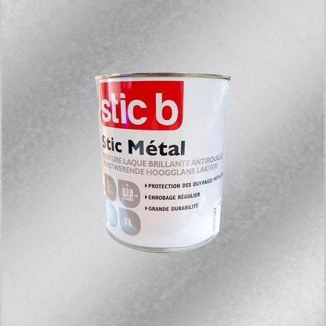Peinture Stic B Métal couleur Aluminium 1L