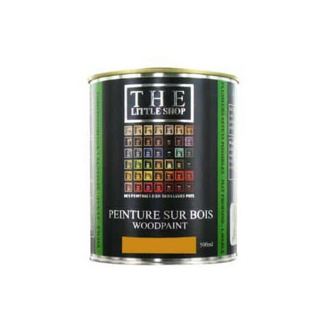 Peinture sur bois Little Shop Of Colors Jaune Ochre Russe 500ml
