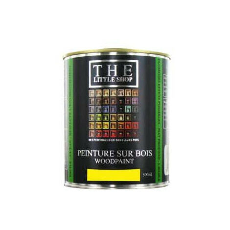 Peinture sur bois Little Shop Of Colors Jaune Sigmund 500ml