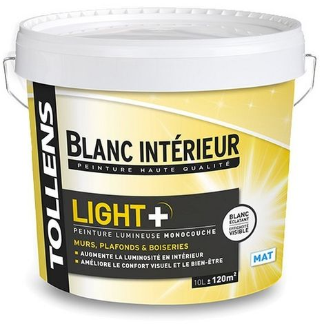 Peinture Tollens Lumineuse Light Mat Blanc 10l 10 Litres