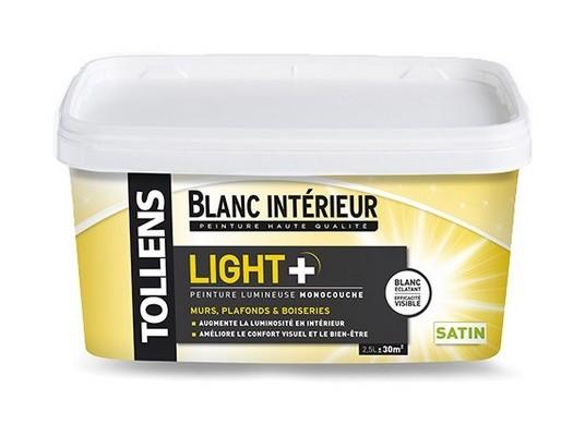Peinture Tollens Lumineuse Light Satin Blanc 2 5l Light Satin 2 5l