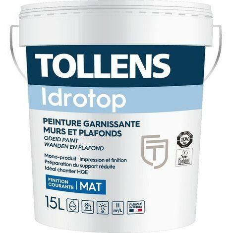 Peinture TOLLENS professionnelle Idrotop Mat | Blanche - 15 Litres