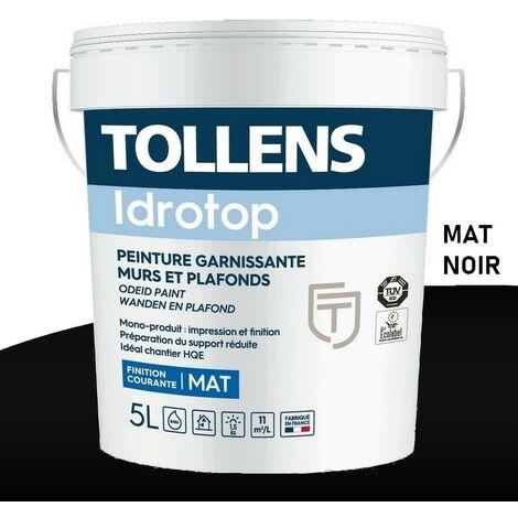 Peinture TOLLENS professionnelle Idrotop Mat NOIR