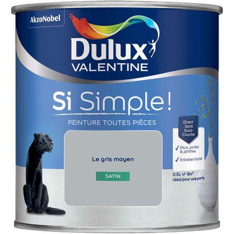 Peinture toutes pièces Dulux Valentine Si Simple ! Satin Le Bleu 0,5 L