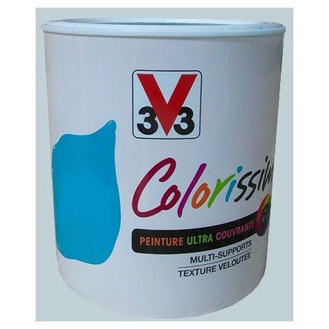 Peinture V33 Colorissim Satin Gris coton n°76 0,5 L - Gris coton
