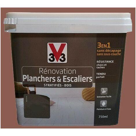Peinture V33 Rénovation Planchers & Escaliers (Stratifiés-Bois) Terracotta 0,75 L - Terracotta