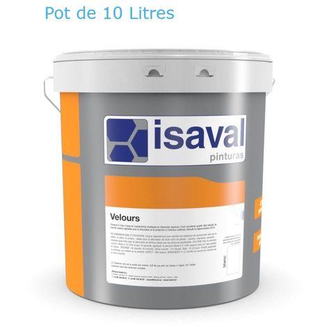 Peinture Velours - 10Litres Blanc - ISAVAL