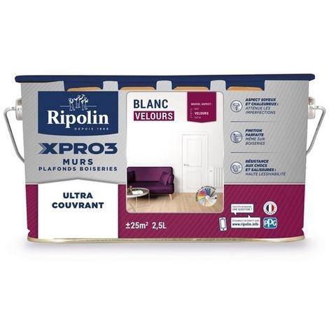 Peinture velours acrylique multi-usages murs & plafonds Xpro3 - plusieurs modèles disponibles
