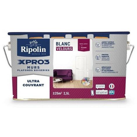 Peinture velours acrylique multi-usages murs & plafonds Xpro3 RIPOLIN
