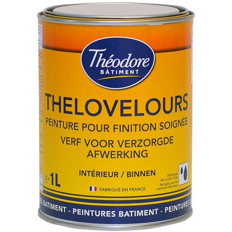 Peinture velours finition soignée pour murs chambre parent, salon... - Bénéficie de l'Ecolabel Européen : Thélovelours