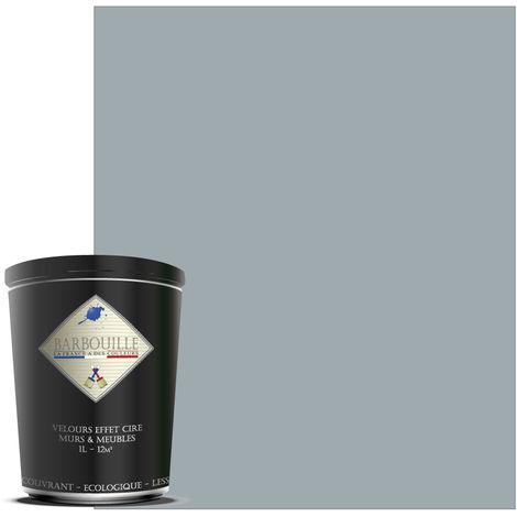 Peinture velouté idéale pour vos murs, plafonds et boiseries de toutes vos pièces, salle de bain et cuisine incluses. - Couleur : Gris & Noir - Nec mergitur