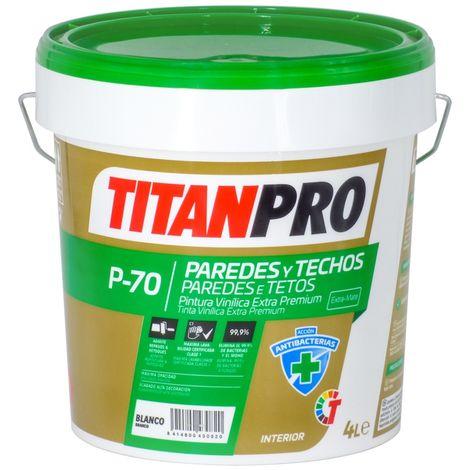 Peinture vinylique Super Premium Blanc mat 15L P70 Titan Pro