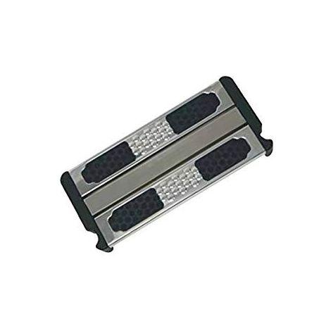 Peldaño doble de seguridad antideslizante de acero inoxidable A316. Incluye tornillos.
