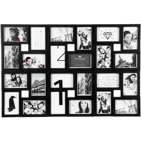 Pêle-mêle 24 Photos - 57 x 85,5 cm - Noir - Noir