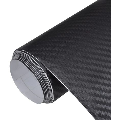 Película De Coche Vinilo De Fibra De Carbon 3D Negro 152 x 200cm