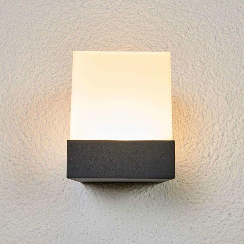 Pelina Led Outdoor Wall Light In Cube