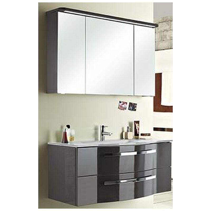 Fokus 4005 117 cm mit Glaswaschbecken, Unterschrank und Spiegelschrank, BadMöbel - Pelipal