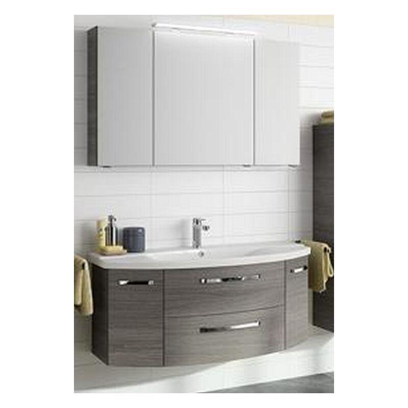 Pelipal Fokus 4010 neu 120cm mit Keramikwaschbecken, Unterschrank und Spiegelschrank, BadMöbel