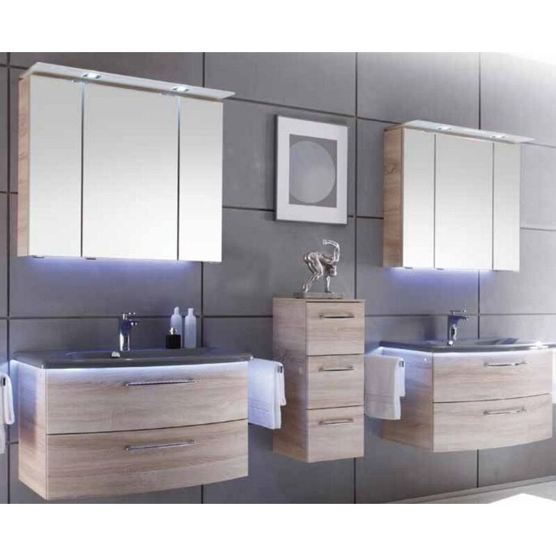 Pelipal Solitaire 7005 Badmöbel Waschtisch 84,5 cm Waschtischunterschrank Spiegelschrank
