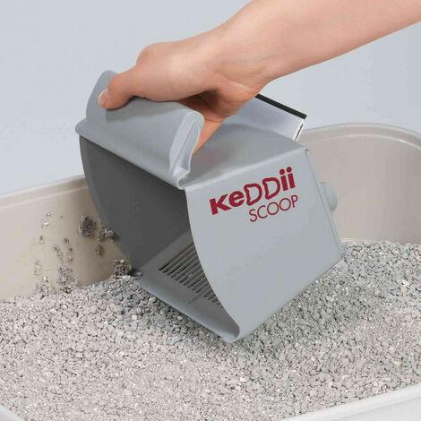 Pelle à litière aggloméré gris KeDDii scoop