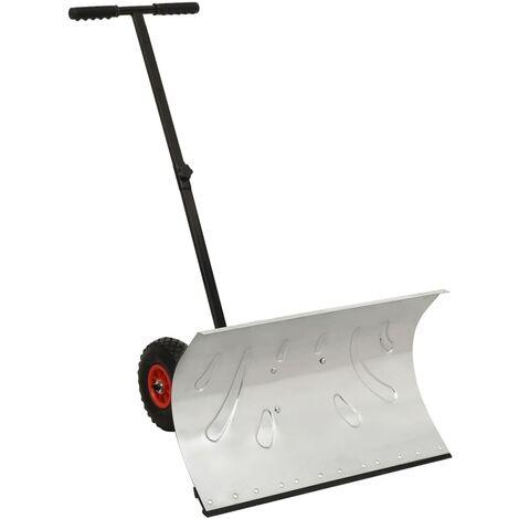 Pelle à neige manuelle avec roues