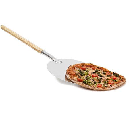 Pelle à pizza gâteau rond Ø 30,5 cm en métal avec manche en bois 79 cm de long Plateau cuisine