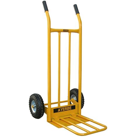 Pelle de stockage Trolley Pelle pliable Métal jaune Ayerbe 580840