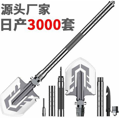 Pelle d'ingenieur, produits d'exterieur multifonctionnels, pelle militaire pliante en silex et acier D15-27 gris fonce