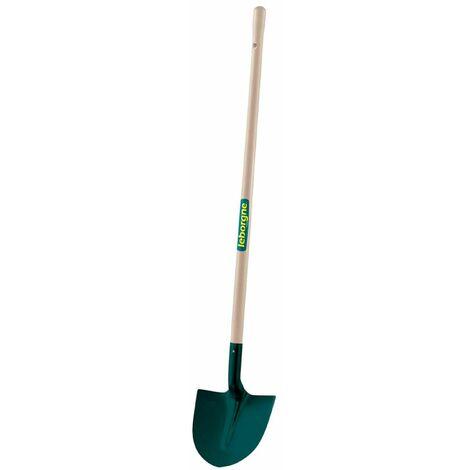 Pelle ronde tôle - 27cm - Manche bois 130 cm PEFC