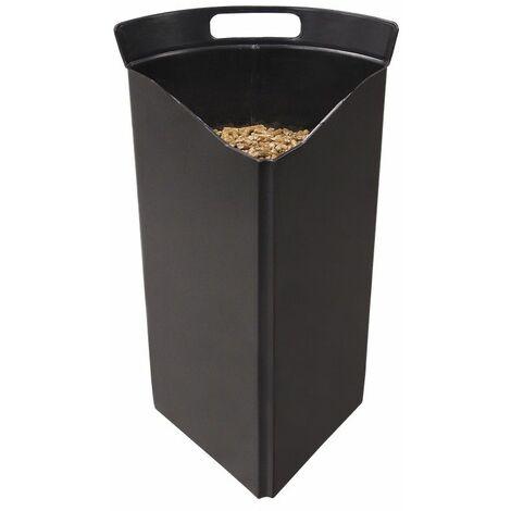 Pellet\'Quadra - votre réserve à granulés design 15 kg - noir mat - noir mat