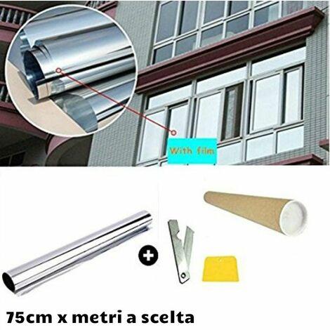 Pellicola effetto specchiato per finestre e vetrate colore argento