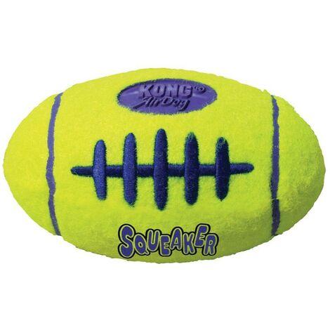 Pelota de rugby para perro Kong Air Squeaker mediano | Mordedor para perro con sonido | Juguete resistente para perro
