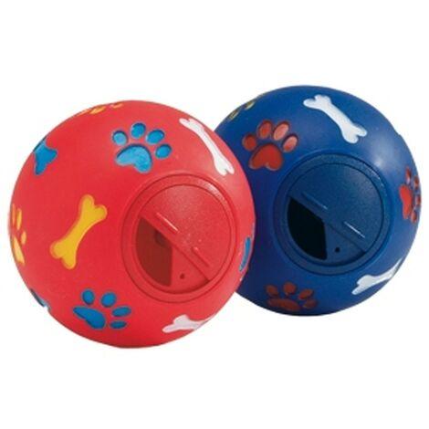 Pelota porta snacks para perro | Juguete para perro | Pelota de goma con sonido para perro