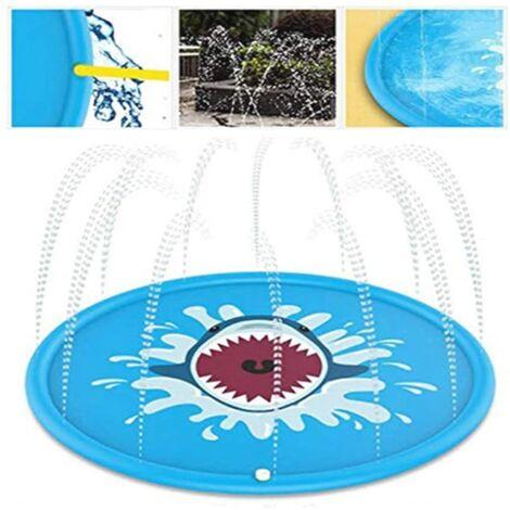 Pelouse jeu de plage coussin d'arrosage coussin de pulvérisation d'eau les enfants d'été jouent en plein air coussin de pulvérisation d'eau de requin (170 CM)