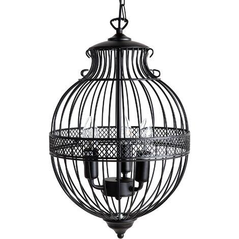 Pendant Ceiling Lamp Black HARMEN