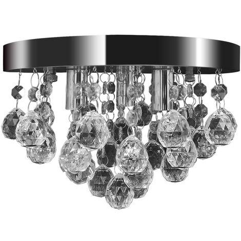 Pendant Ceiling Lamp Crystal Design Chandelier Chrome - Transparent