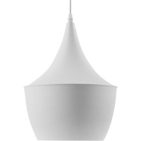 Pendant Ceiling Lamp Light Metal White Gold Modern Contemporary Fraser