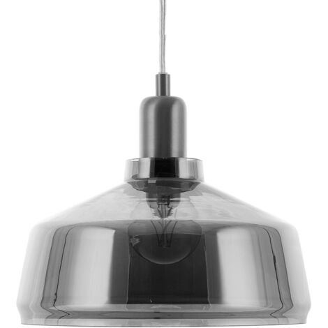 """main image of """"Pendant Ceiling Light Lamp Smoked Glass Contemporary Grey Drave"""""""