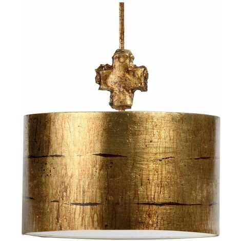 Pendant Fragment, gold and acrylic, 1 bulb, 38cm