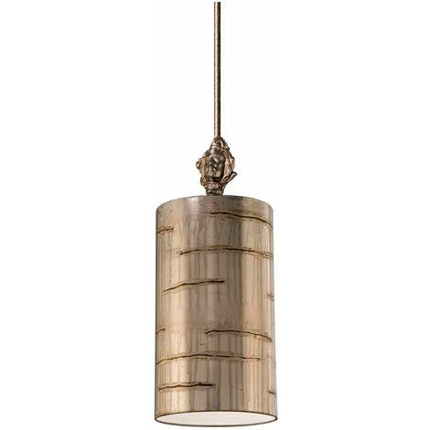 Pendant Fragment, silver and acrylic, 1 bulb, 20 cm