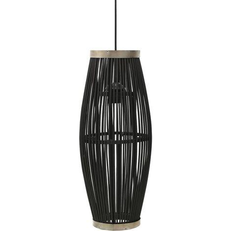 Pendant Lamp Black Willow 40 W 21x50 cm Oval E27 - Black