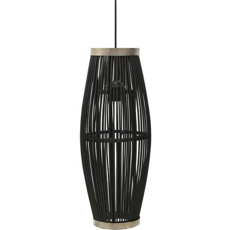 Pendant Lamp Black Willow 40 W 25x62 cm Oval E27 - Black