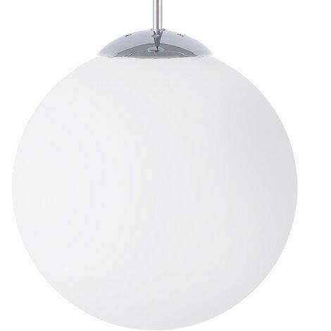 Glass Pendant Lamp White BARROW Large