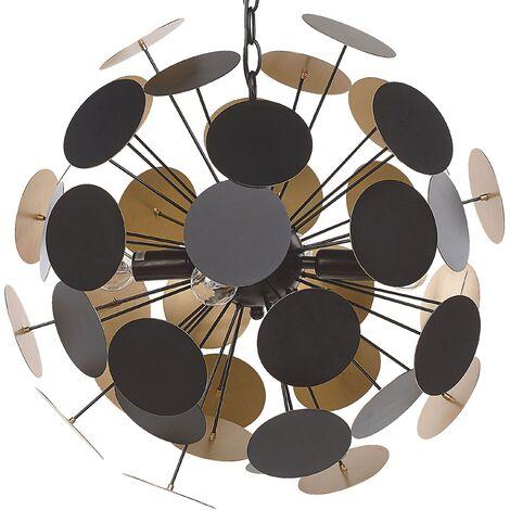 Pendant Lamp Gold with Black MARITSA