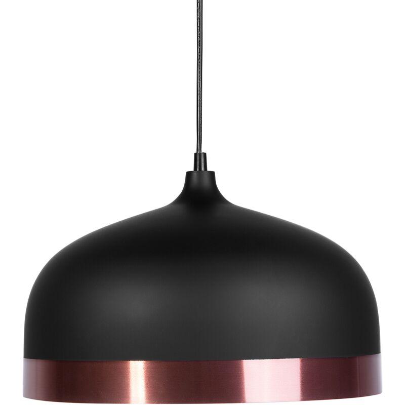 Image of 1-Light Pendant Ceiling Black Round Shade Elegant