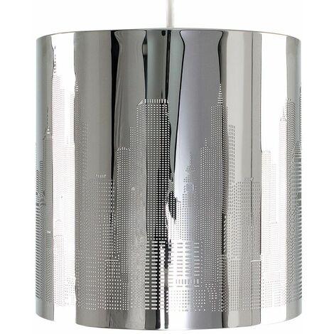 Pendant Lamp Shade New York Skyline Chrome Ceiling Light Lampshade