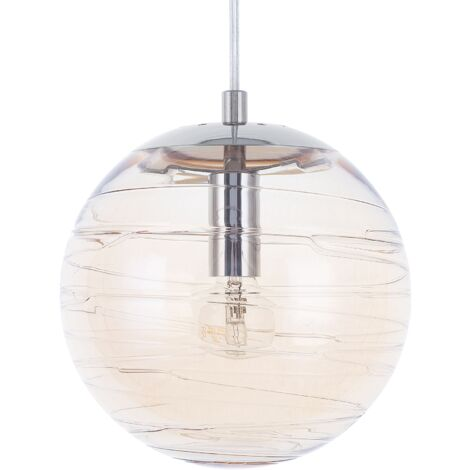Glass Pendant Lamp Gold MIRNA
