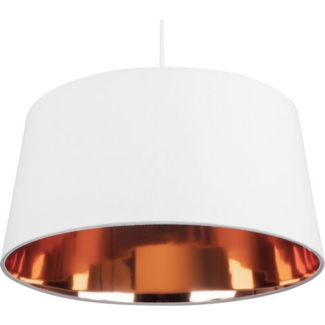Pendant Lamp White with Copper KALLAR