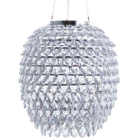 Crystal Pendant Lamp Silver SAUER